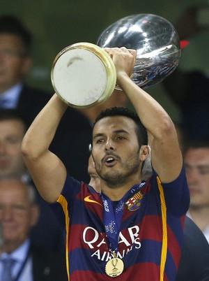 Pedro Rodríguez Barcelona Supercopa da Europa (Foto: Getty Images)