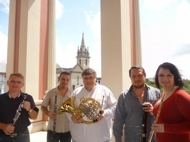 Apresentação do Quinteto de Sopros da Amazonas Filarmônica é gratuita (Foto: Divulgação/Sesc/AM)