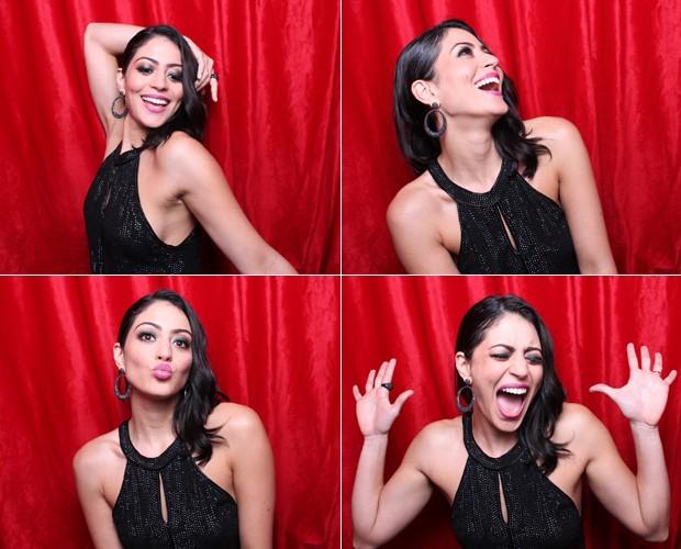 As caras e bocas de Carol Castro, estrela do Dança dos Famosos! (Foto: Domingão do Faustão / TV Globo)