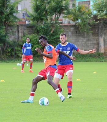 Lucas Fonseca e Allano em treino do Bahia (Foto: Divulgação / E. C. Bahia)