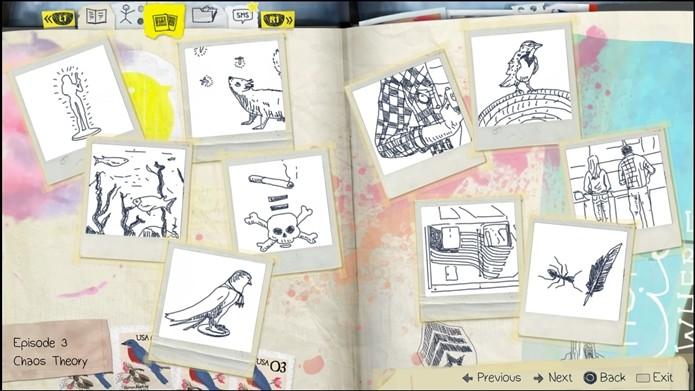 O diário de Max contém dicas para cada uma das fotos (Foto: Reprodução/Cássio Barbosa)