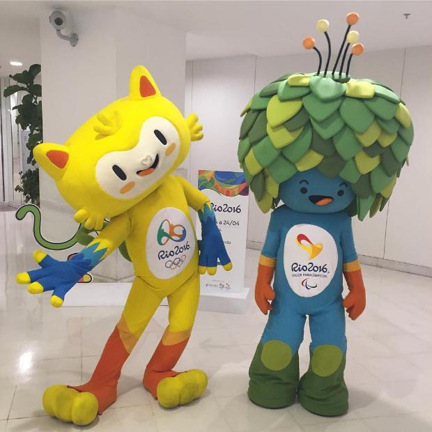 Vinicius e Tom, mascotes da Rio 2016 (Foto: Reprodução / Instagram @multifato)