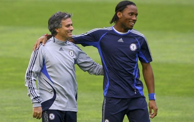 Mourinho Drogba Chelsea (Foto: Getty Images)