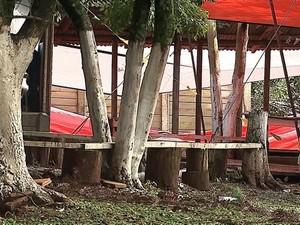 Crimes ocorreram em motoclube de Ponta Grossa (Foto: Reprodução/RPC)