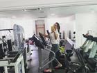 Ivete Sangalo faz selfie durante malhação: 'Vamos que vamos'