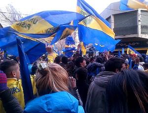 Banderazo torcida Boca Juniors Riquelme  (Foto: Reprodução / Twitter)