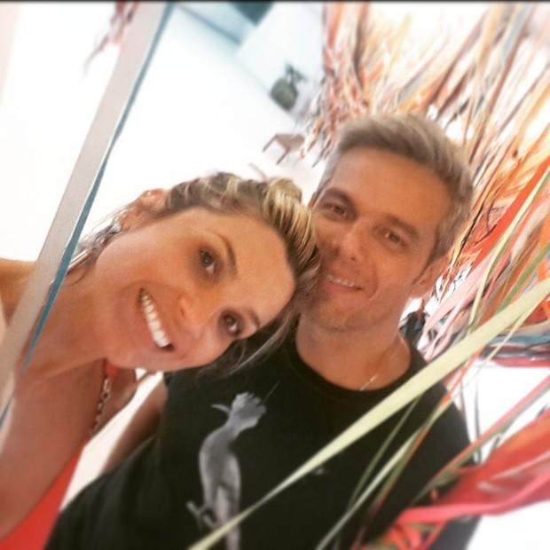 Flávia Alessandra e o marido, Otaviano Costa (Foto: Instagram/ Reprodução)