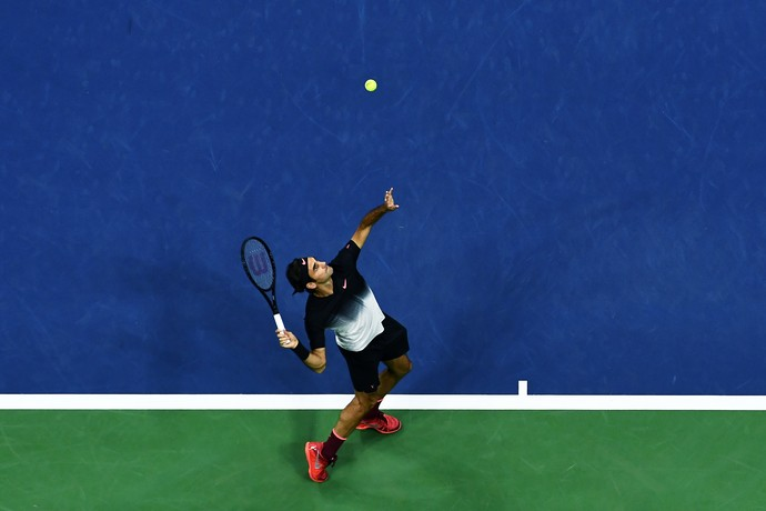 Roger Federer avança no US Open contra Feliciano Lopez (Foto: Jewel SAMAD / AFP)
