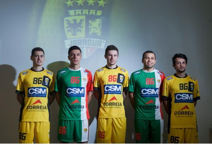 Jaraguá futsal novos uniformes (Foto: Divulgação)