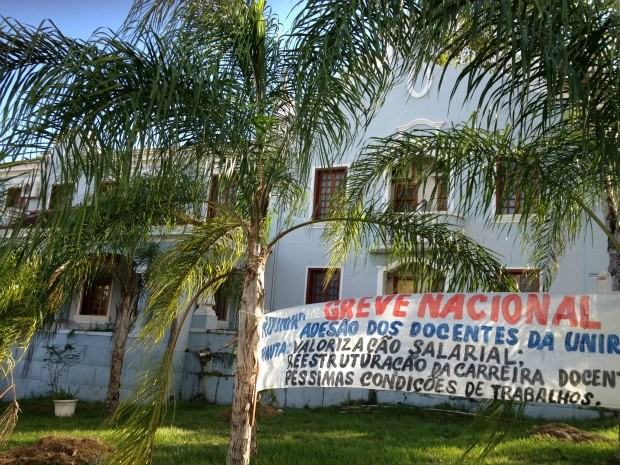 12 mil universitários da Unir foram afetados pela greve. 90% dos professores aderiram ao movimento (Foto: Flaviane Azambuja/G1)