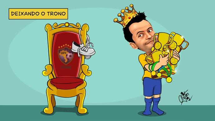 """Falcão deixa o """"trono"""" na seleção brasileira com muitos títulos (Foto: Clayton Esteves/ TV TEM)"""