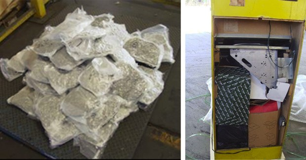 Droga estava escondida dentro de fliperama do clássico game 'Pac-Man' (Foto: Divulgação/Orangeburg County Sheriff's Office)
