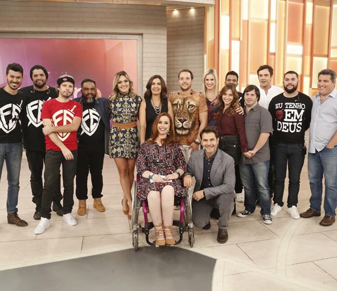 Fátima e os convidados do 'Encontro' desta terça-feira (19/4) (Foto: Raphael Dias/Gshow)