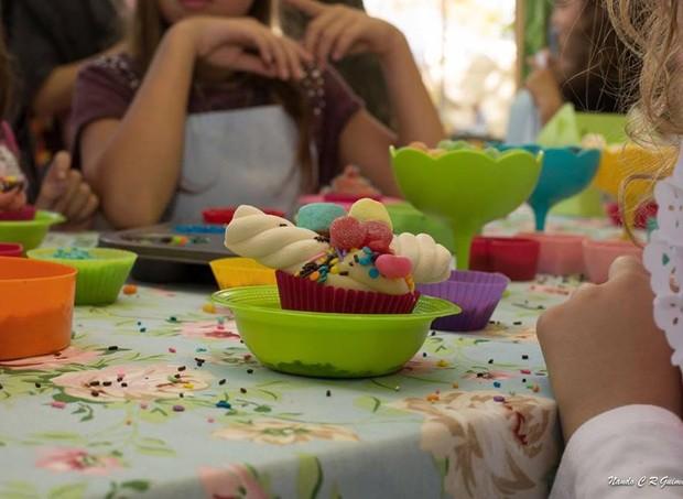 A oficina de cupcake da Ouí Marie Patisserie promete ser animada (Foto: Divulgação)