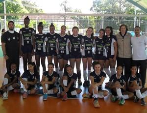 Meninas do time de Vôlei Mirim do Rio de Janeiro (Foto: Samir Vilas Boas/PMP)