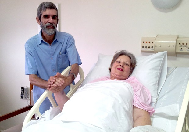 Mulher de 61 anos dá à luz casal de gêmeos em Santos, SP (Foto: Mariane Rossi/G1)