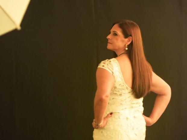 Marcia teve câncer e participou do ensaio fotográfico (Foto: Mariane Rossi/G1)