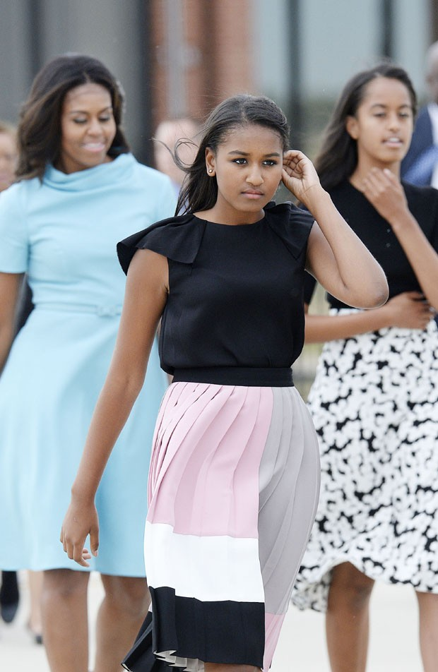 Michelle Obama e Filhas (Foto: Getty Images)