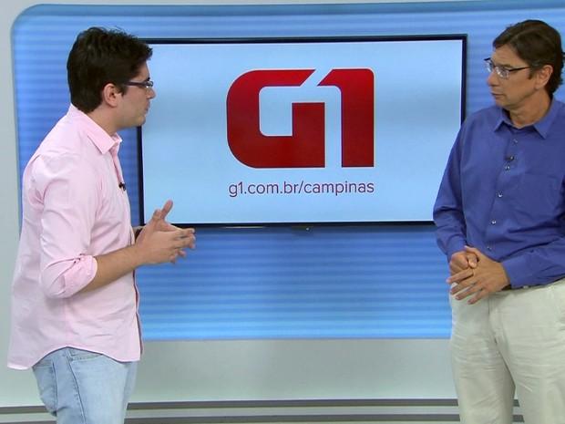 O candidato Marcio Pochmann (PT) durante entrevista ao G1, em Campinas (Foto: Reprodução / EPTV)