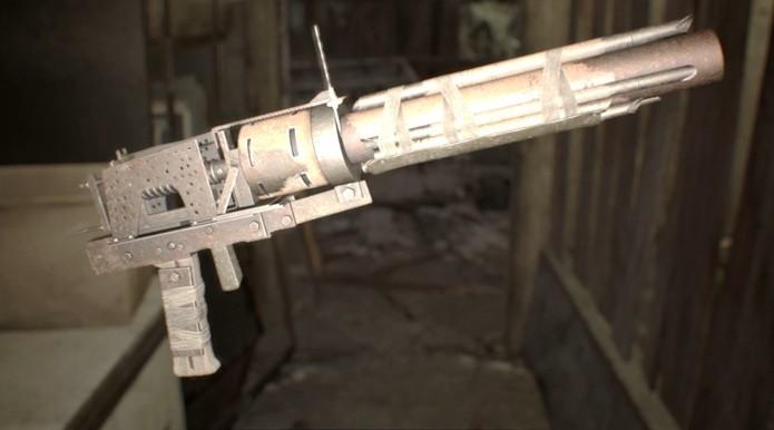 Com munição escassa, lança-granadas pode ser usado contra os inimigos maiores de Resident Evil 7 (Foto: Reprodução/Felipe Demartini)