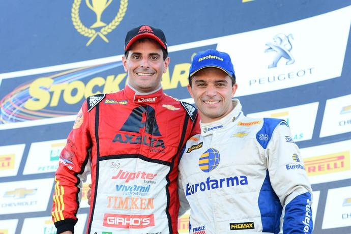 Julio Campos e Max Wilson, vencedores da Stock Car em Tarumã (Foto: Fernanda Freixosa)
