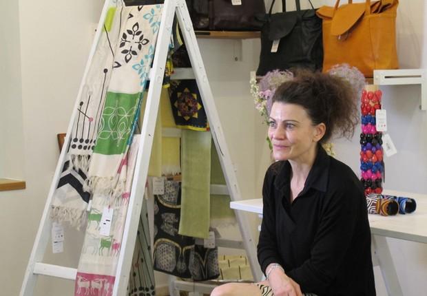 Andrea Bury, fundadora da Abury, uma empresa de moda étnica com viés social (Foto: The Girls on the Road)