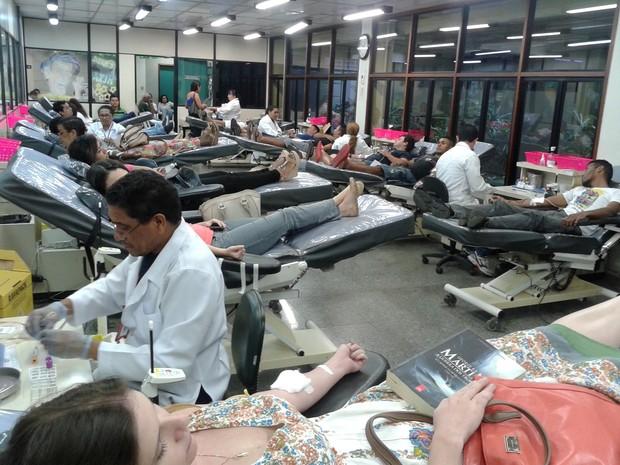 A Fundação Hemopa começou a semana com um reforço de 157 bolsas coletadas no último sábado, 12, (Foto: Divulgação)