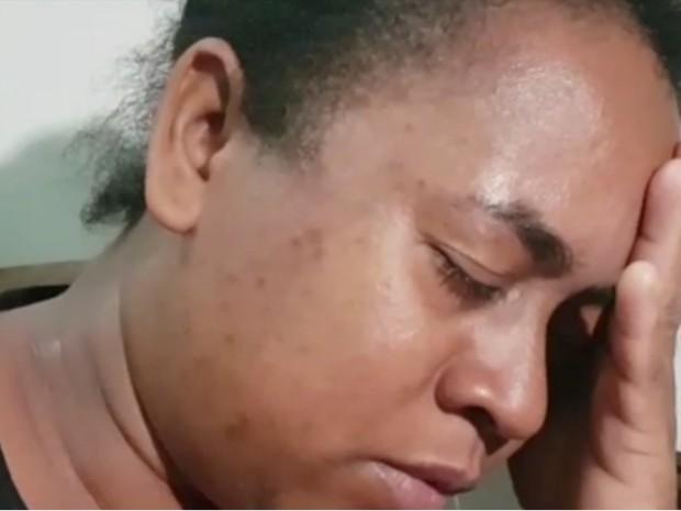 Mãe perdeu dois filhos em acidente em Santa Fé de Goiás (Foto: Reprodução/TV Anhanguera)