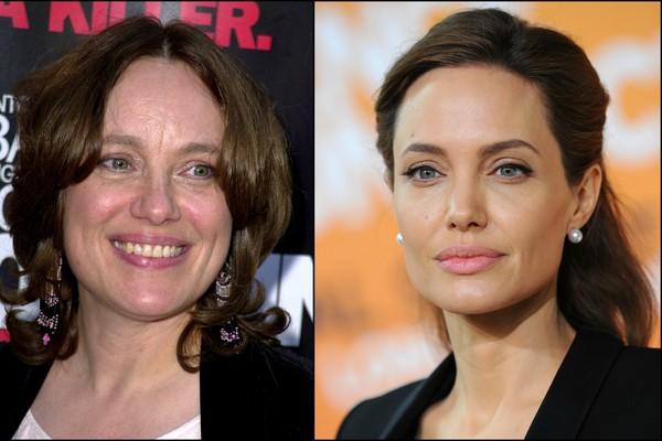 Marcheline Bertrand em julho de 2001 e a filha, Angelina Jolie, atualmente. (Foto: Getty Images)