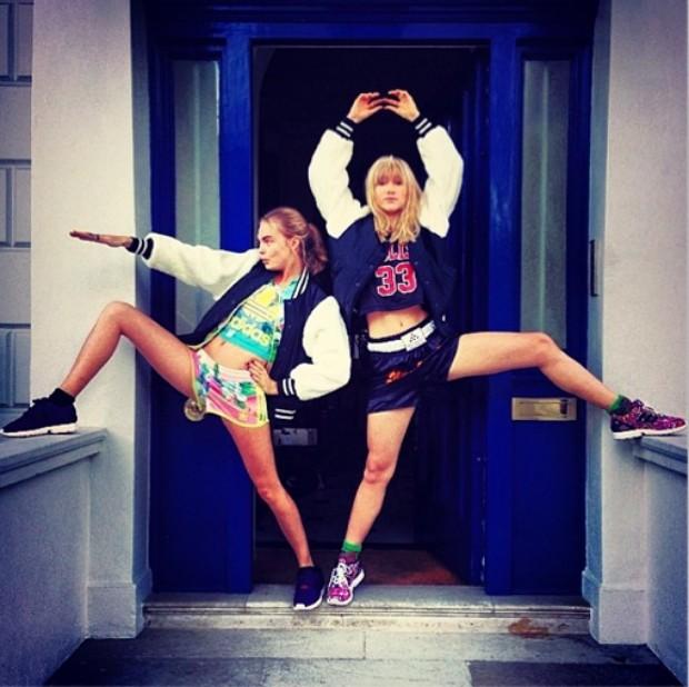 Cara Delevingne e Suki Waterhouse (Foto: Reprodução/Instagram)