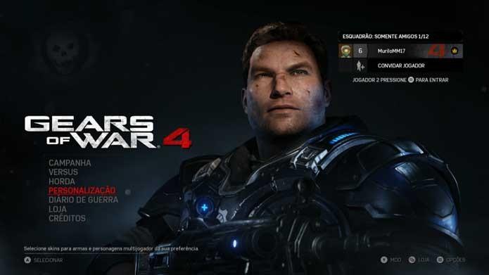 Gears of War 4: como desbloquear itens e personalizar seus personagens (Foto: Reprodução/Murilo Molina)