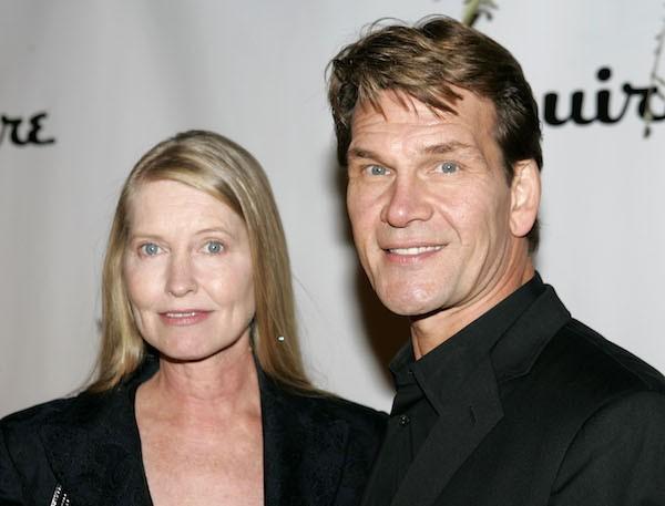 O ator Patrick Swayze e a atriz Liza Niemi, em foto de 2004 (Foto: Getty Images)