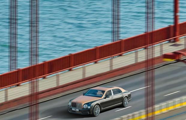 Bentley faz megafoto do Mulsanne (Foto: Divulgação)