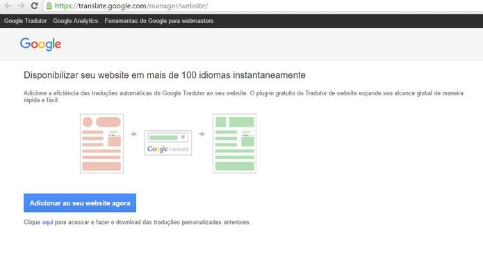 Plugin permite adicionar botão do Google Tradutor no seu site (Foto: Reprodução/Barbara Mannara)