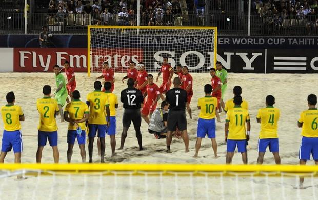 Brasil passa sufoco para vencer Taiti na disputa pelo terceiro lugar  (Foto: Getty Images)