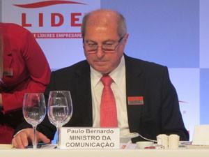 Ministro Paulo Bernardo participou de evento com empresários nesta segunda-feira (27) em São Paulo (Foto: Gabriela Gasparin/G1)