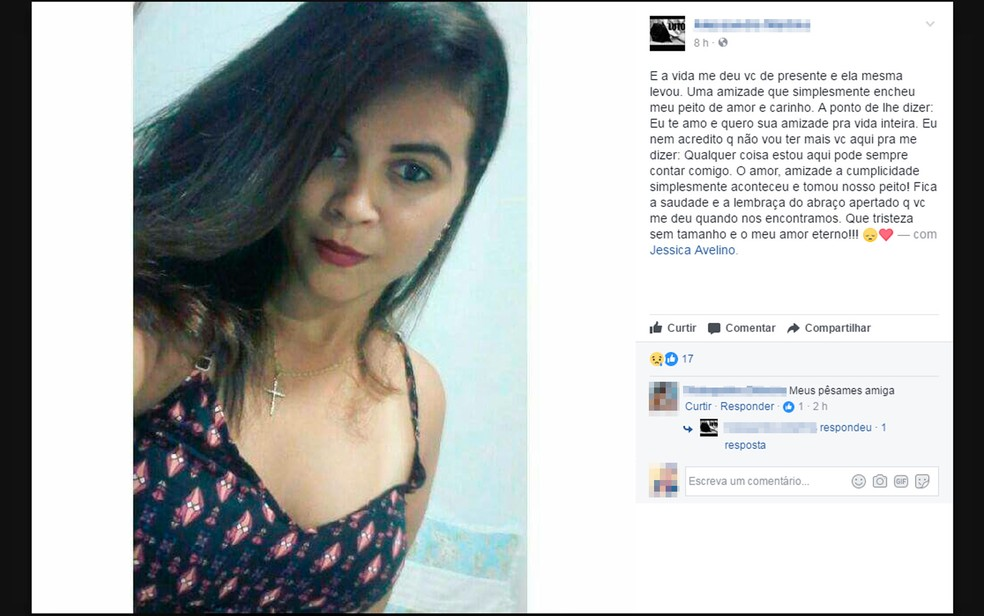 Amigos usaram as redes sociais para lamentar a morte da jovem (Foto: Reprodução/Facebook)