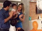 Fernanda Gentil e o ex-marido comemoram os 8 meses do filho