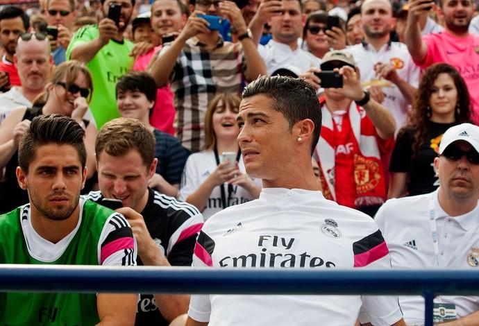 Cristiano Ronaldo Real Madrid e Manchester United  (Foto: Agência AP)