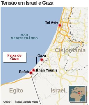 mapa gaza 16/11 (Foto: 1)