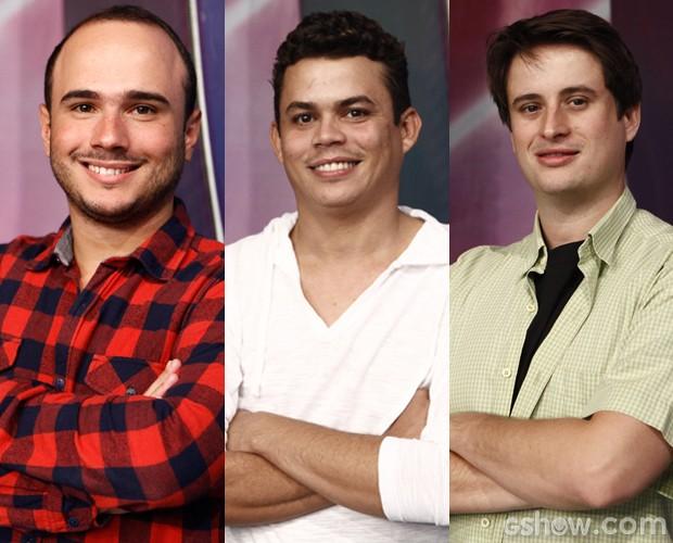 Ed Gama, Emerson Ceará e Felipe Ruggieri voltam com tudo (Foto: Domingão do Faustão / TV Globo)