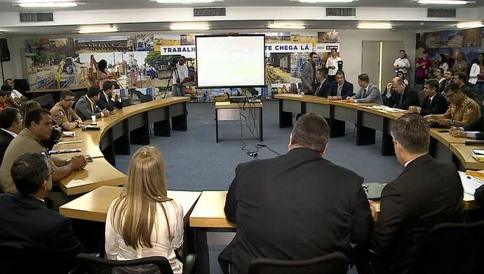 Reunião do Conselho de Segurança de Alagoas (Foto: Reprodução/TV Gazeta)