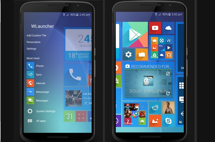 WLauncher aplica interface do WP no Android (Foto: Divulgação/Reddit)
