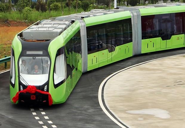 Trem sem motorista começa a circular na China (Foto: Divulgação)