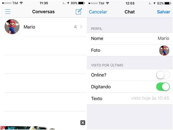 Selecione o ícone de nova conversa no WhatsFake (Foto: Reprodução/Lucas Mendes)
