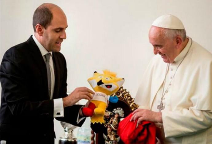 Sergio Jadue e Papa Francisco (Foto: Divulgação)