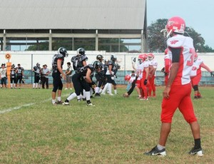 América Bulls x Ceará Caçadores Superliga Nacional futebol americano (Foto: Haim Ferreira/ Blog Touchdown)