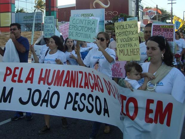 Grupo de apoio para mulheres sobre parto e maternagem na Paraíba promove mobilização em defesa do parto natural (Foto: Gestar & Maternar / Wagner Araújo)