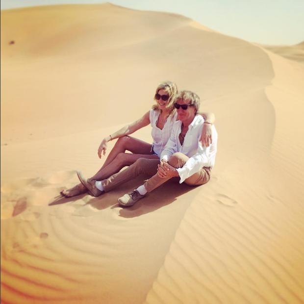 Rod Stewart e Penny Lancaster (Foto: Reprodução/Instagram)