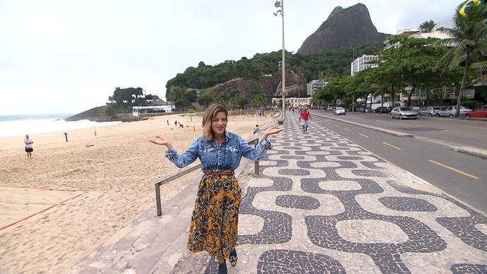 A apresentadora Paula Magalhães se despede do Rio de Janeiro (Foto: TV Bahia)